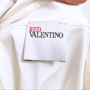 RED Valentino Tops - RED Valentino White Button Up Blouse
